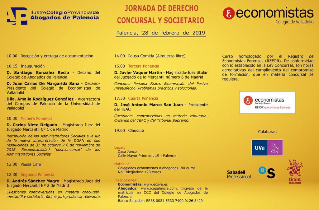 Jornada de Derecho Mercantil. Societario y Concursal