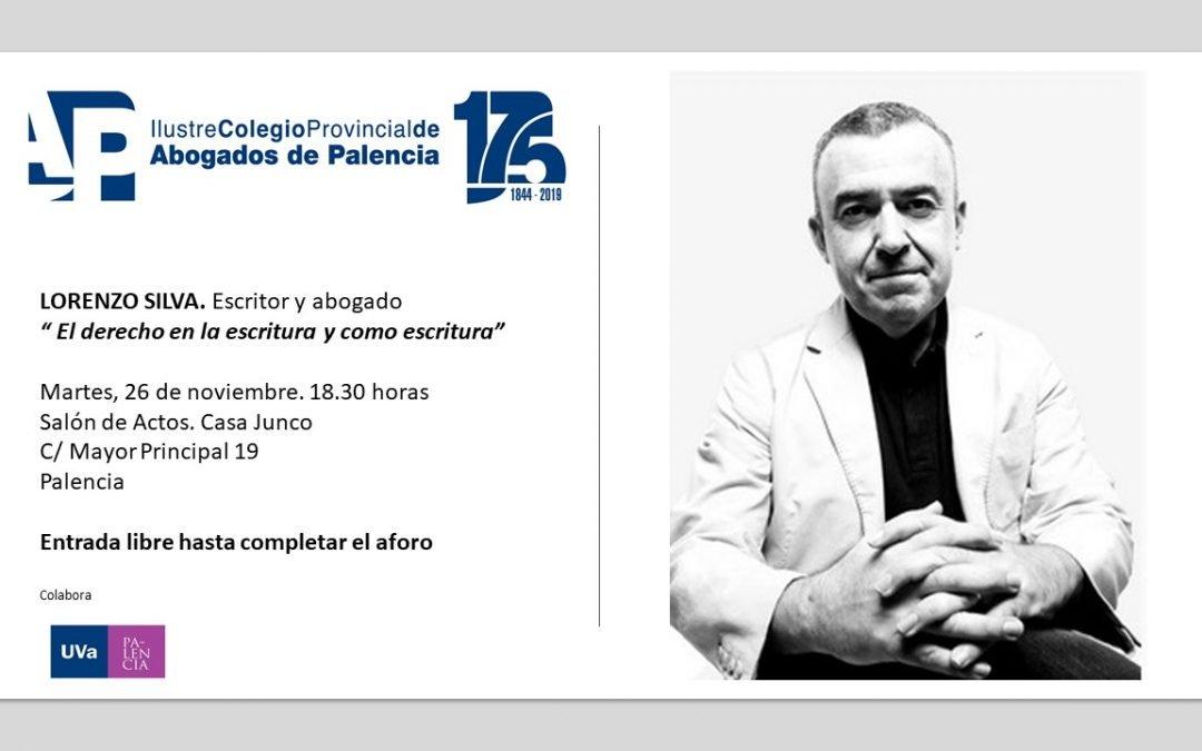 Encuentro con el escritor Lorenzo Silva. Martes 26 de noviembre. 18.30 horas